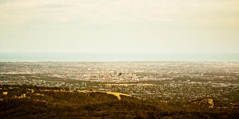 Вид на город Аделаида, Австралия