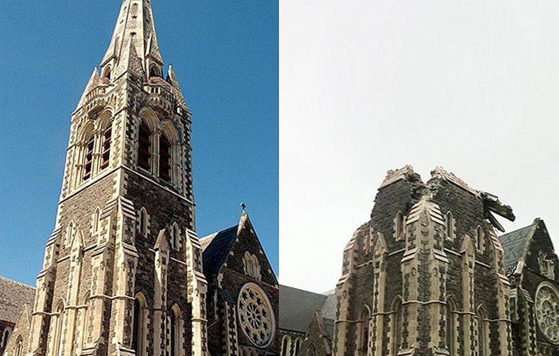 """Землетрясение в Новой Зеландии, фотографии в стиле """"было-стало"""" – 2"""