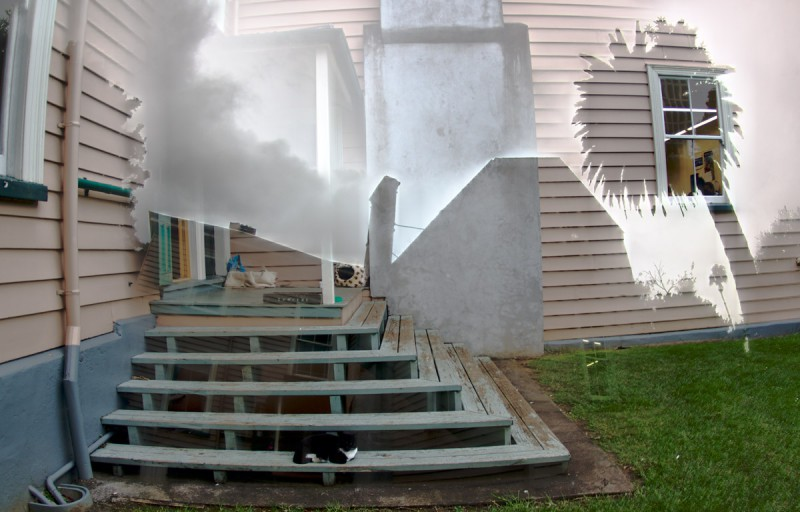 nz auckland princes st cat IMG 8883 4 5Adjust 800x512 Фотоэксперименты с цифровой мультиэкспозицией и закос под плёнку.