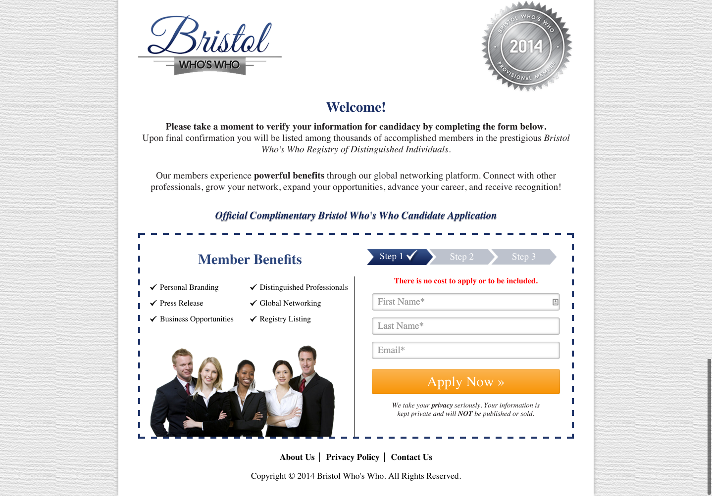 Bristol Who s Who Official 2014 2015 Candidate Application