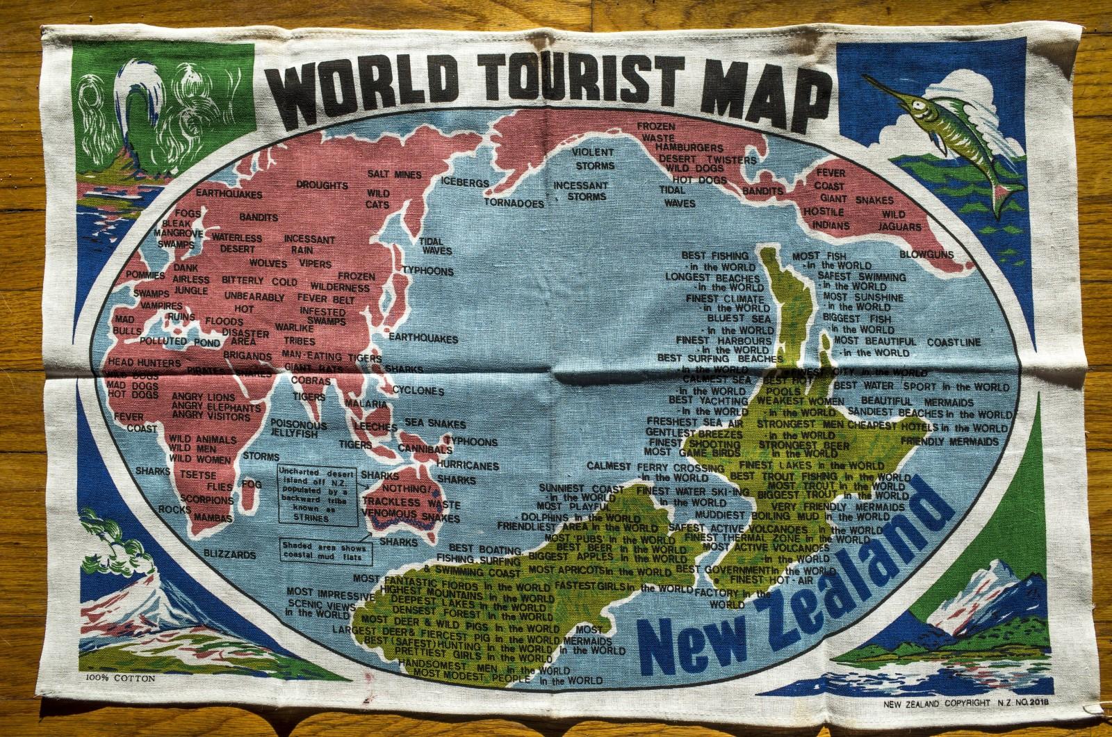 NZ World Tourist Map