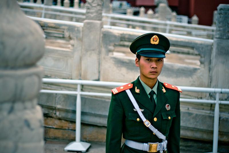 Военный у входа в Запретный город
