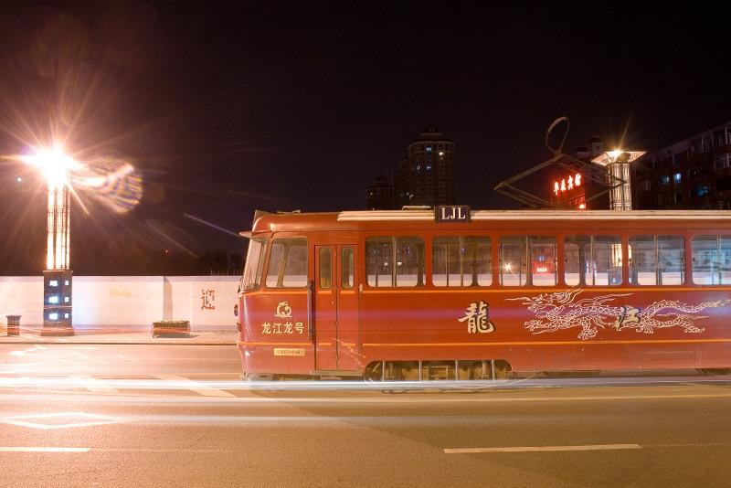 Трамвай в Харбине