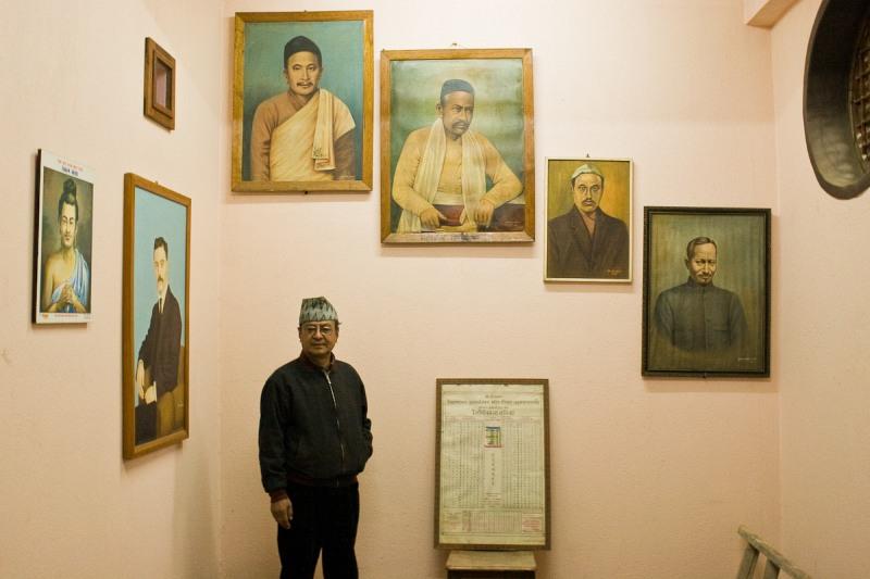 Архивариус с портретами его предшественников