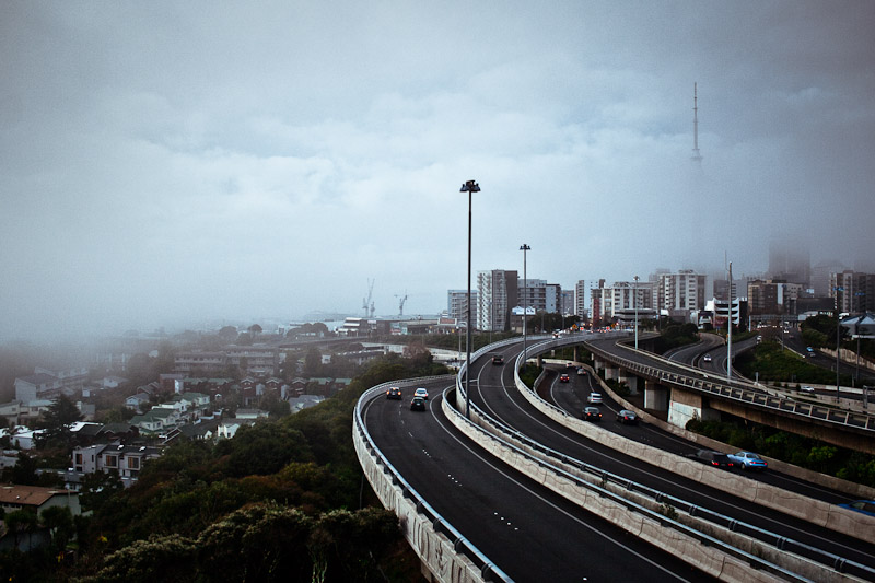 Центр города в тумане