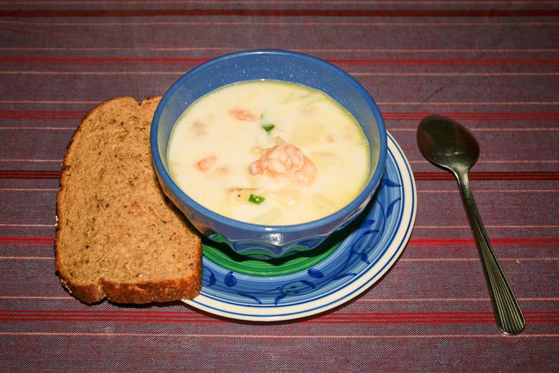Густой морепродуктовый суп