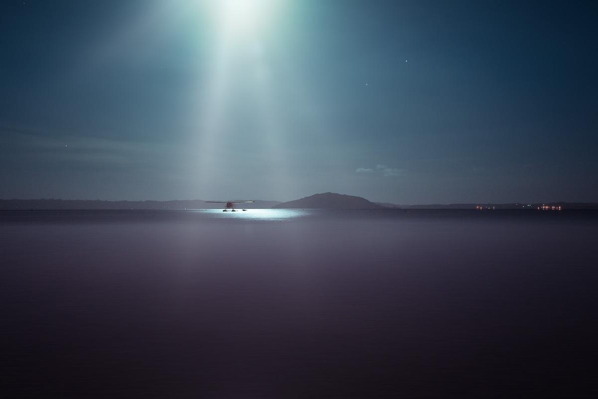 Гидроплан на озере Роторуа