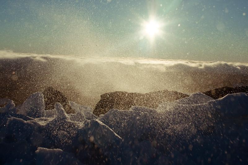 Вид на облака с горы Руапеху