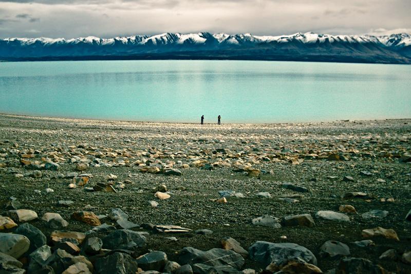 Макс и Антон у озера Пукаки